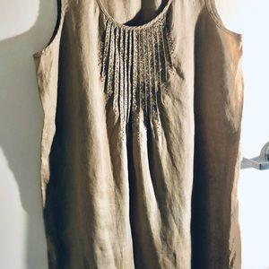 J Jill 100% linen dress